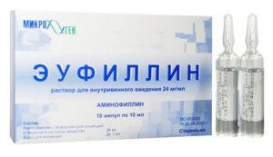 раствор для инъекций эуфиллин