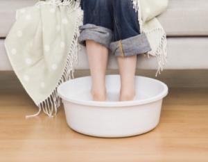 nеплая ванночка для ног