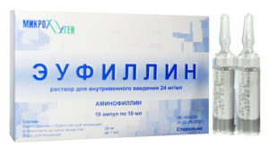 раствор для внутривенного введения эуфиллин
