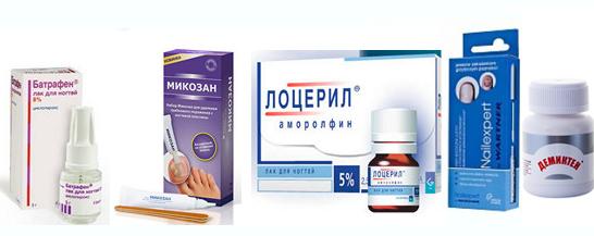 препараты для ногтей
