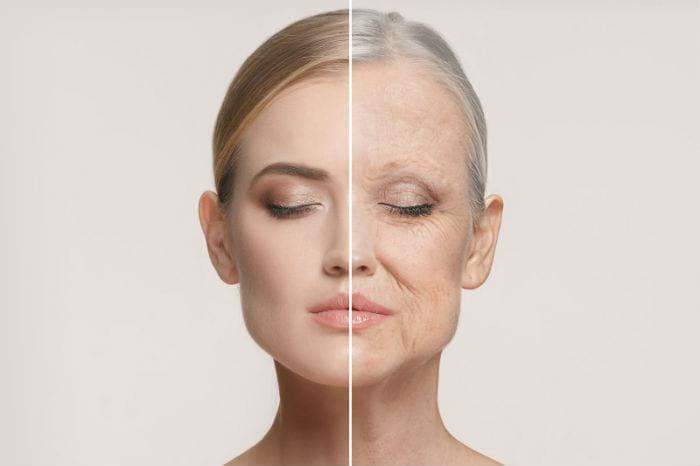 старение лица женщины, возрастные изменения